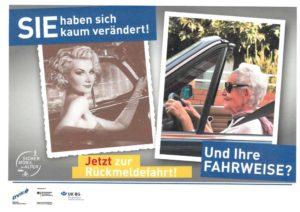 Dvw Sicher Mobil Poster Rückmeldefahrt Frau 2019