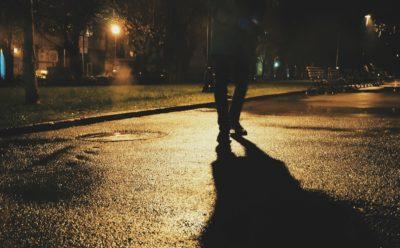 Fussgaenger Nachts