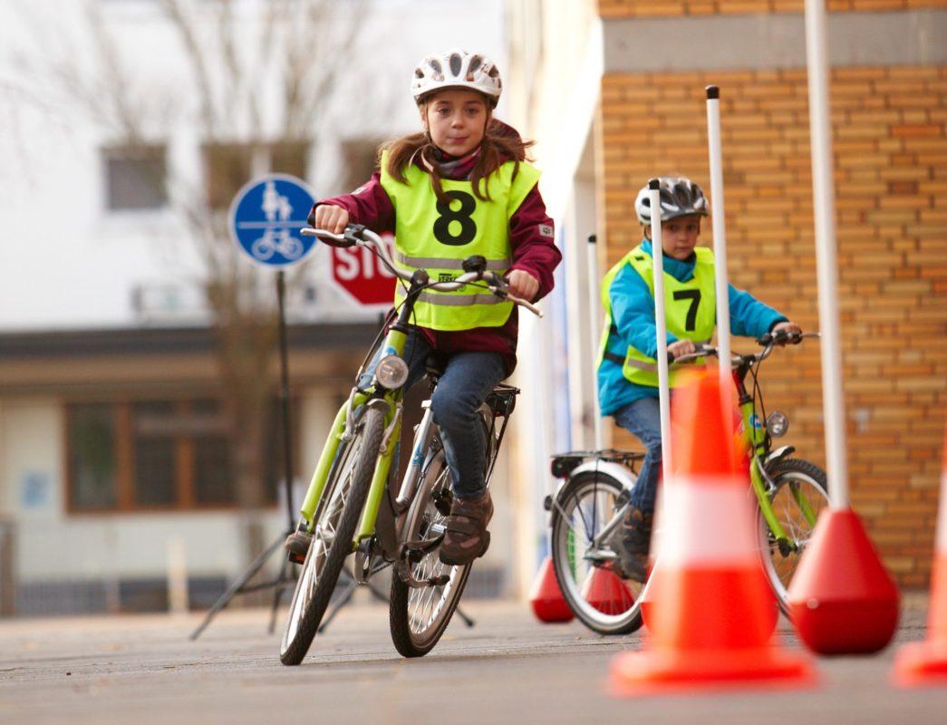 Fahrradparcours In Der Schule Website